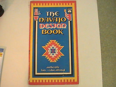 "1975 Vintage Authentic  ""The Navajo Design Book""  Donna Greenlee 14"" x 8"""