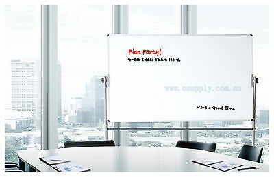 120x90 cm Double Side Aluminium Frame Magnetic Stand Whitboard with Pentray