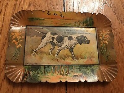 Antique Worcester Phonograph Tin Litho Advertising Tip Tray Young Jingo