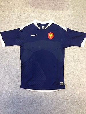 Nike France Rugby Union Jersey Home Blue IRB RWC French les Bleus