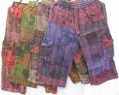Shorts Mens 3/4 pants boho Comfy Gypsy music unisex beach casual hippy M-4XXL