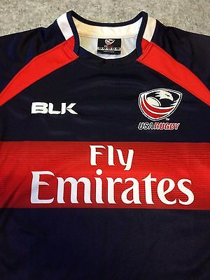 Official BLK USA Eagles Rugby Union Home Jersey IRB RWC Mens Size Small
