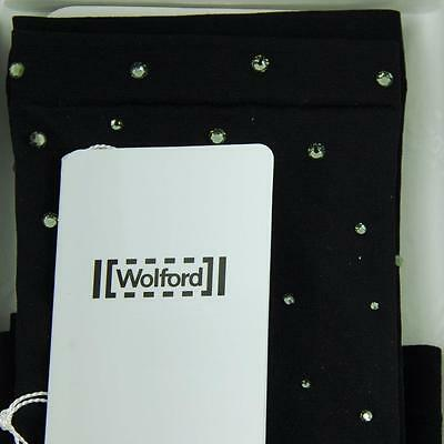 Wolford Black Fatal Sleeves Limited Edition W/ Swarovski Crystals One Size