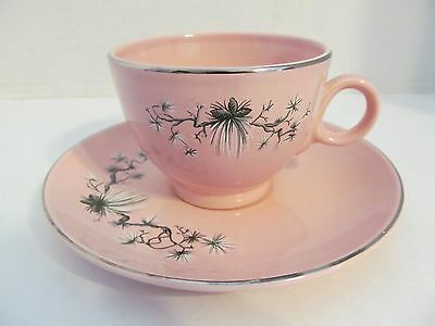 Vtg Taylor Smith Taylor Pink Dwarf Pine Cup & Saucer