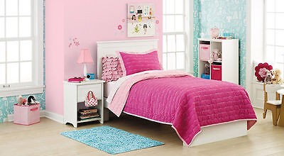 3 pcs Circo Pretty Pink GOODNIGHT COLLECTION Embroidery Full Quilt & Shams Set