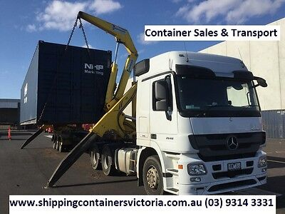Shipping Container Transport. VIC North West. 150kms. We also SELL Containers