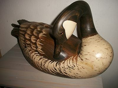 Big Sky Carvers 2003 Signed 3 of 8 Hand carved. Hand Painted, Goose, Geese.