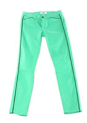 Paige NEW Green Womens Size 27 Four-Pocket Slim Skinny Jeans $119- 159 DEAL