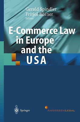 E-commerce Law in Europe and the Usa by Paperback Book (English)