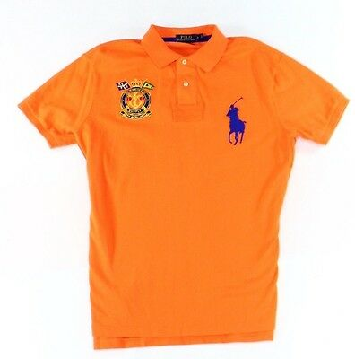 Polo Ralph Lauren NEW Orange Mens Size Large L Logo Polo Rugby Shirt $98 039