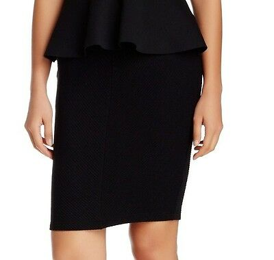 Lush NEW Deep Black Womens Size Small S Stretch Knit Pencil Skirt 141 DEAL