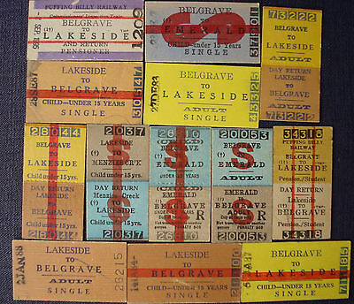 Victorian - Tickets:  Puffing Billy assortment see photo - Dated