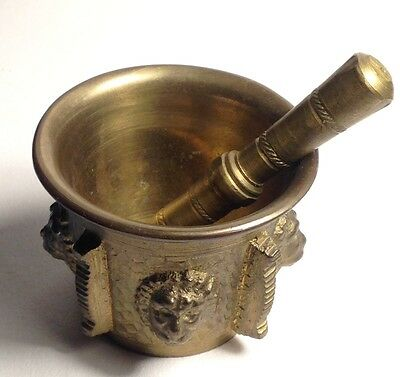 Brass Mortar And Pestle ( Vintage )