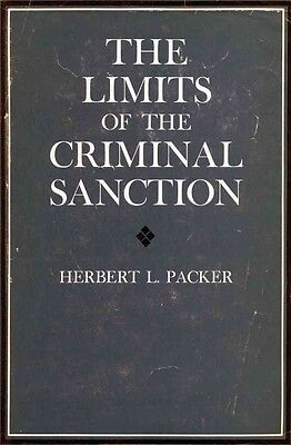The Limits of the Criminal Sanction by Herbert L. Packer Paperback Book (English