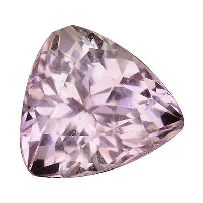 4.300Cts Attractive Luster Soft Pink Natural Kunzite Trillion Loose Gemstones