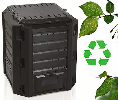 Garden Bin Composter 380L Unit Eco Friendly Organic Waste Recycling Detritus