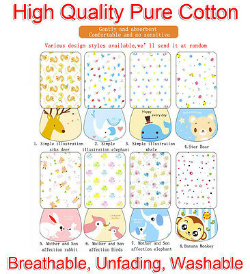 20x27cm Baby Quality Back Perspiration Wipest Cotton Absorbent Towel Washable