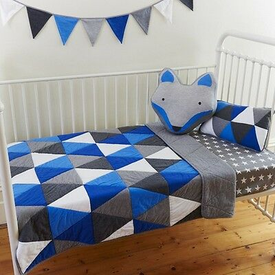 Boys Cot Quilt 2 pce set Leo Baby Boys Nursery Crib Bedding Linens N Things