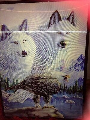 3D White Wolf Poster