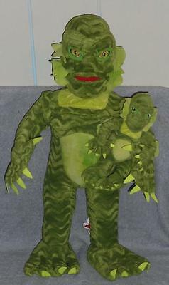 """1999 Universal Studios Monsters 24"""" & 8"""" Plush CREATURE FROM THE BLACK LAGOON"""