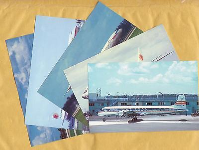 National Airlines airplanes postcards.
