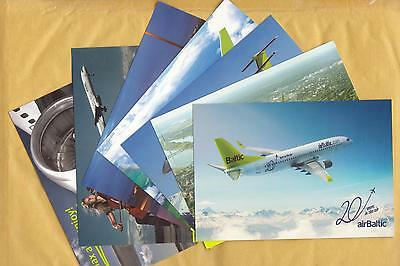 airBaltic airline postcards.