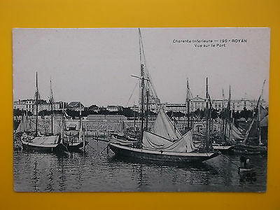 Port ROYAN Charente Inferieure France c1910 Yachts Fishing Boats Harbour