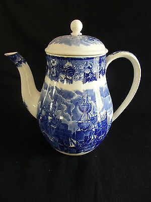 Wedgwood Blue & White 4 Cup Coffee Pot