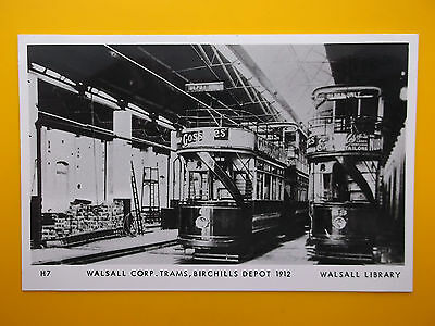 4 x WALSALL Staffordshire - Museum RPs Standard Size c1970s Trams Pub Shops