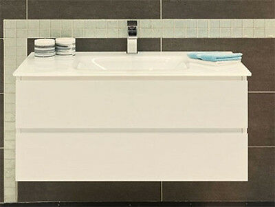VANITY BATHROOM 900mm Wall Mount  UNIT WITH  FREE FAUCET New
