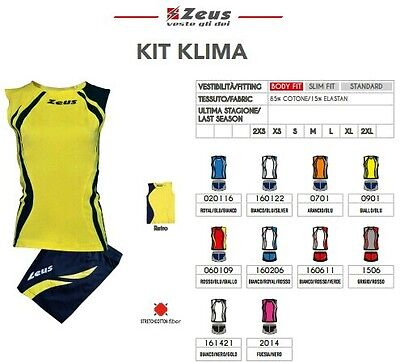 Kit Volley Donna Zeus Sport Klima
