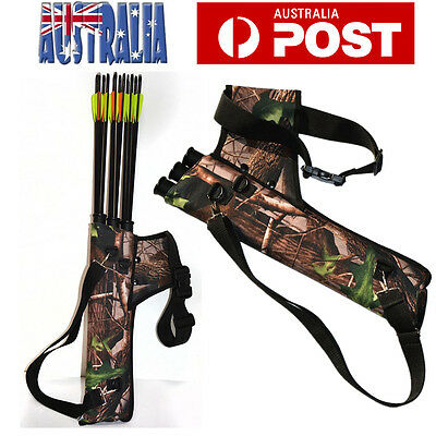 Hunting Bow Bag Arrow Holder Adjustable Strap 3-Tube Archery Quiver Outdoor