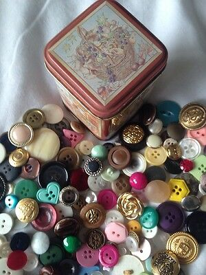 Tin Vintage & Modern Buttons Over 150+