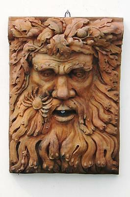 Stone 'Man of the Sea' Decorative Water Feature or Garden Wall Plaque.