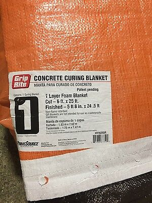 6 ft x 25 ft concrete curing  blanket(4 in Stock)