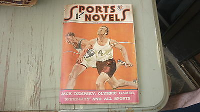 Old Australian Sports Novels Magazine 1947 Jack Dempsey, Olympic Games, Speedway