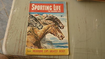 Old Australian Sporting Life Magazine, Melbourne Cup Jockeys, Horse Racing 1950