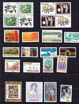 Canada stamps - 24 MUH & Used