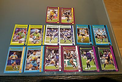 2016 Nrl Rugby League Stickers Full Set