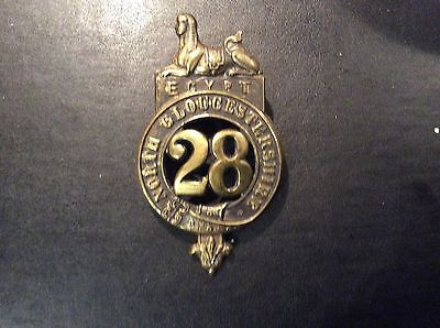 North Gloucestershire 28th of Foot Glengarry Badge Victorian