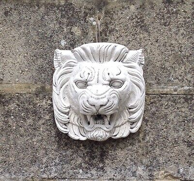 Stone - Lion Garden Wall Plaque or Water Feature