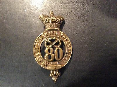 Staffordshire 80th of Foot Glengarry Badge Victorian
