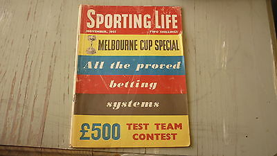 Old Australian Sporting Life Magazine, Melbourne Cup, Horse Racing Nov 1955