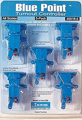 NEW RAIL MODELS :- 40018-5 BLUE POINT TURNOUT CONTROLLER 5 PACK New & Packaged