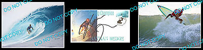 Nathan Hedge Australian Pro Surfing Champon Signed Cover +2 Photos