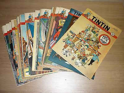 Tintin Hebdomadaires Annee 1951 Edition Belge Complete