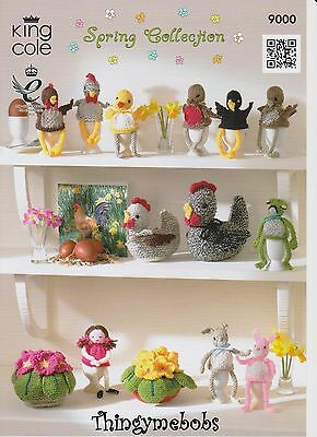 King Cole 9000 Spring/easter Collection Original Knitting Pattern - Egg Cosies
