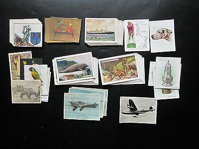 Cigarette/Trade Cards  Rare 46 x Large and 18 x  Extra Large,  Mixed Condition