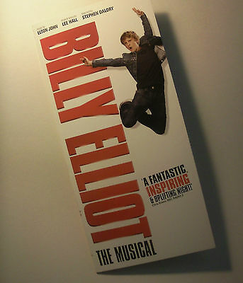 Billy Elliot musical Victoria Palace Theatre London 2011 flyer