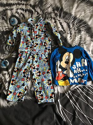 Baby Boys Mickey Mouse Pyjamas And Top 18-24 Months Disney
